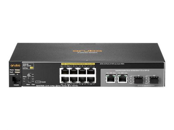 HP Enterprise Aruba 2530-8G-PoE+ - Switch - verwaltet - 8 x 10/100/1000 (PoE+)