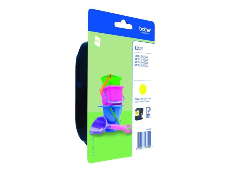 Brother LC221Y - Gelb - Original - Blisterverpackung