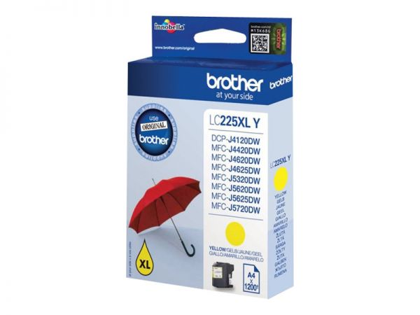 Brother LC225XLY - Gelb - Original - Tintenpatrone