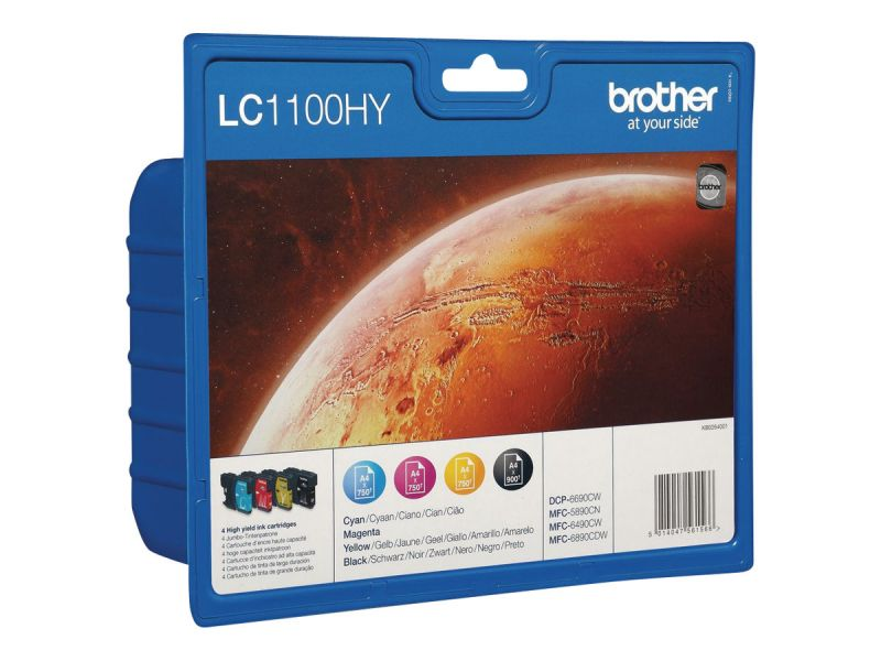 Brother LC-1100HY Value Pack - 4er-Pack - Hohe Ergiebigkeit