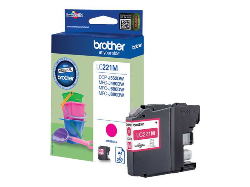 Brother LC221M - Magenta - Original - Blisterverpackung