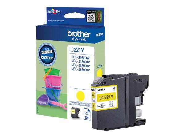Brother LC221Y - Gelb - Original - Tintenpatrone